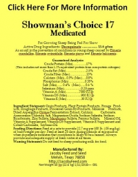 Showman's Choice 17 Medicated