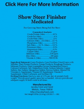 Show Steer Finisher 1