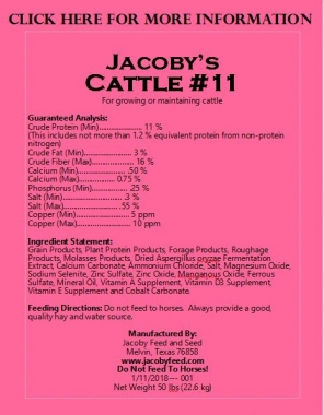 Jacoby's Cattle #11 1