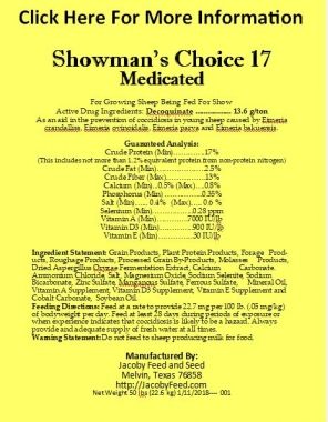 Showman's Choice 17 Medicated 1